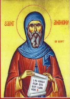 Icon of Anthony the Egyptian Monk