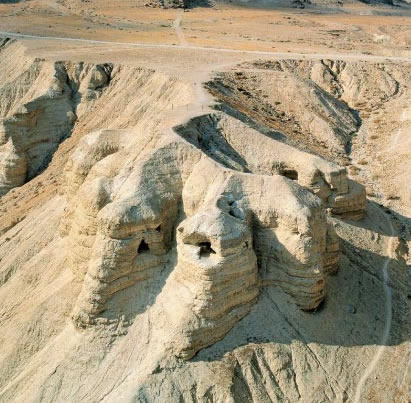 Caves of Qumran where the Dea Sea Scrolls were Found